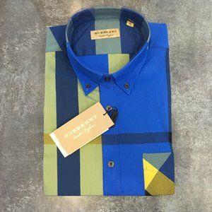 Burberry London Plaid Check Button Down Shirt